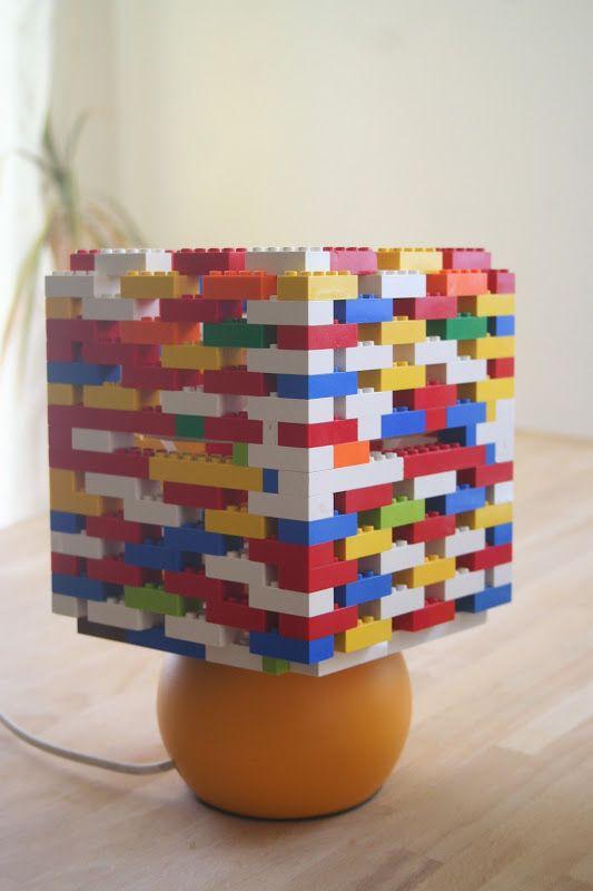 10 awesome ways to decorate with legos lego lego lamp and decorating lego lamp shade aloadofball Images