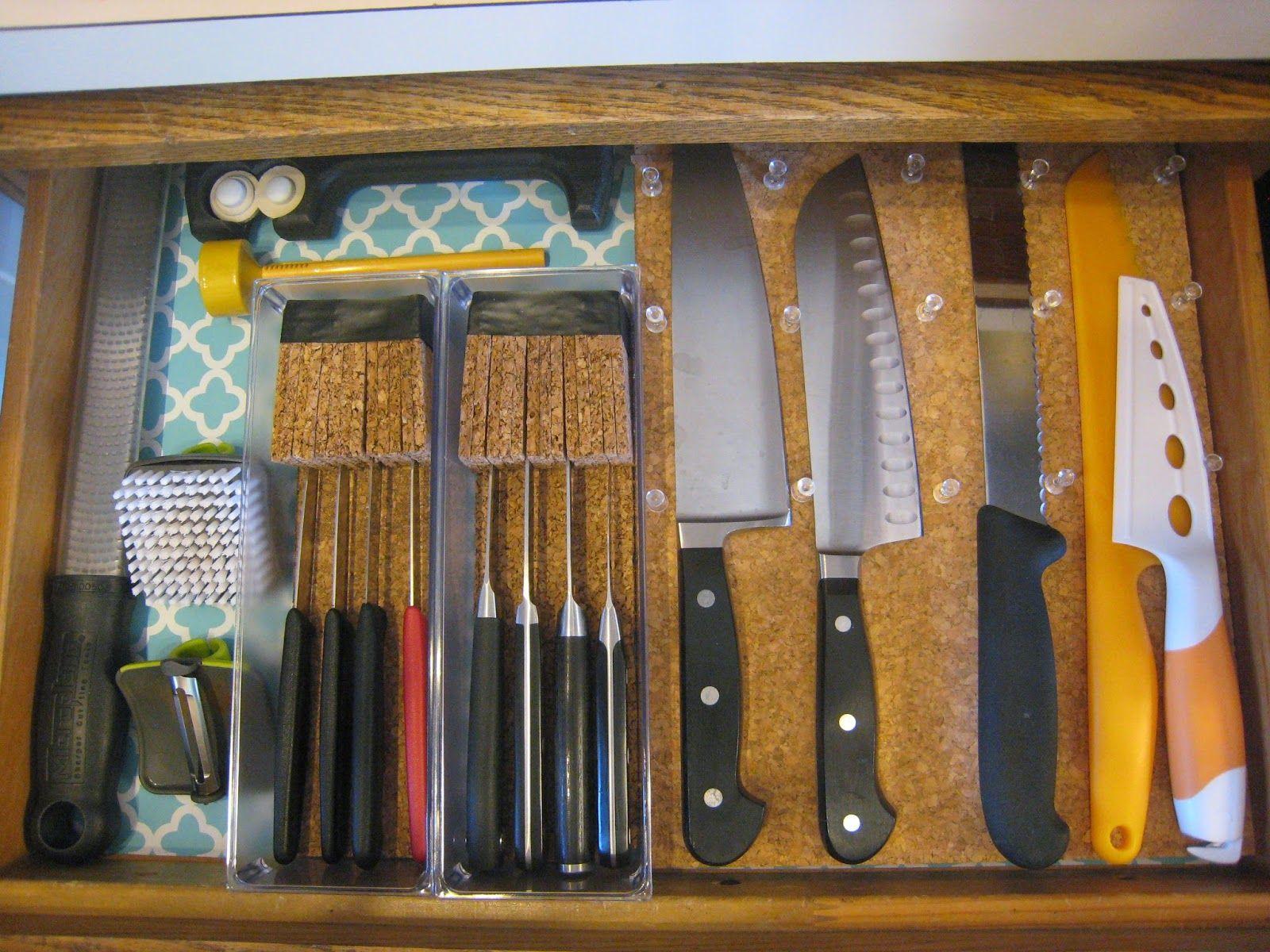 Diy Drawer Knife Block Tutorial Knife Storage Knife Block Knife