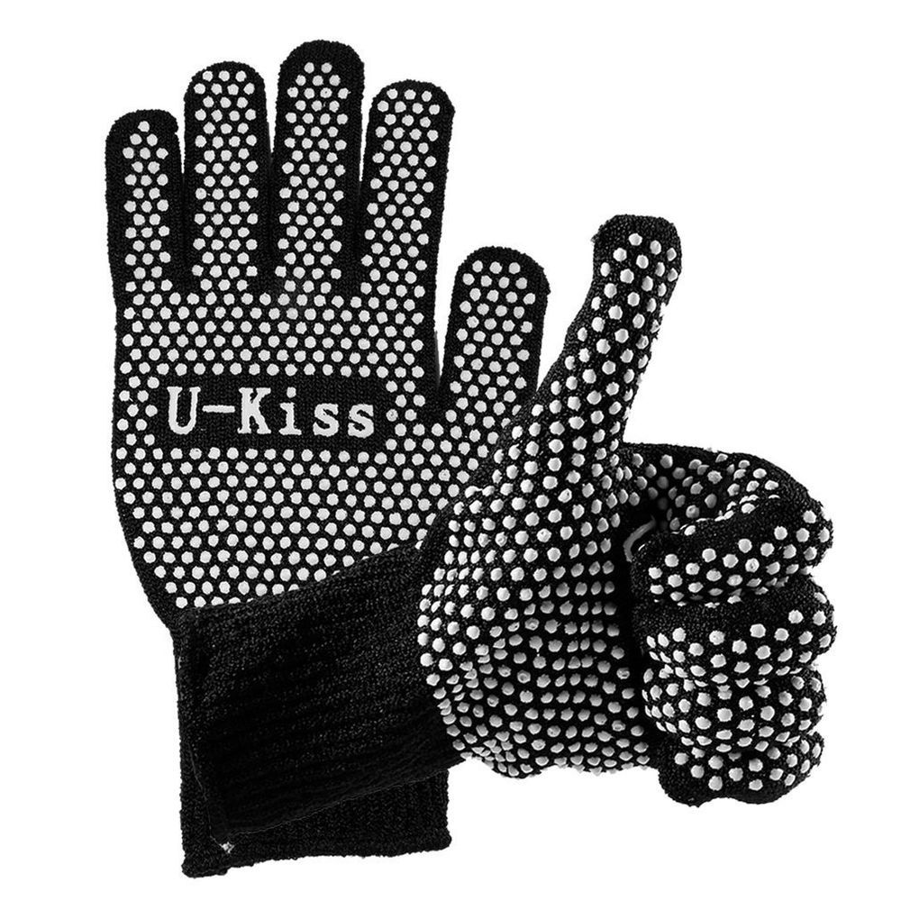 Heat Resistant Glove Double Sided For Hair Styling Bbq Grill Home Repair New Ukiss Heat Resistant Gloves Curl Styles Bbq Grill