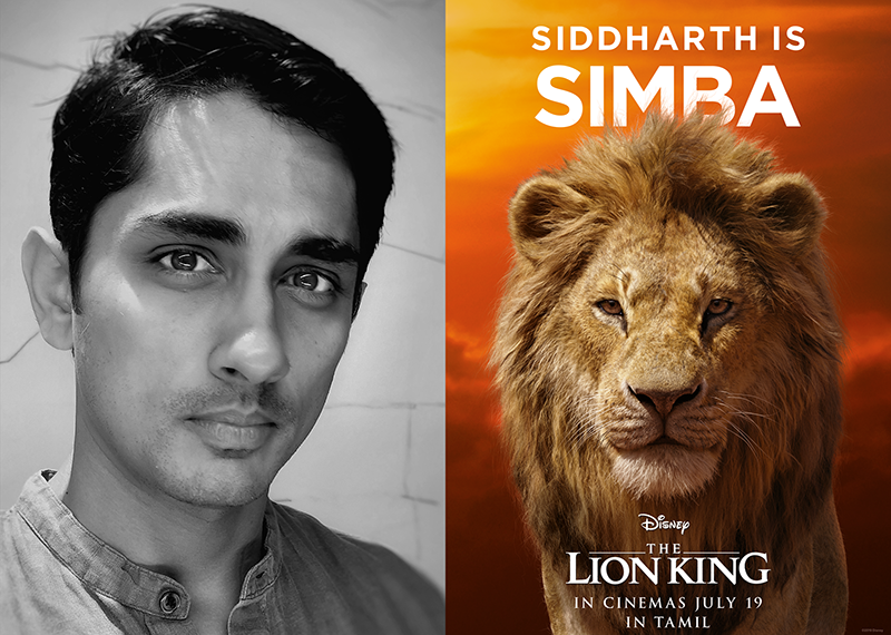 YOUTH ICON SIDDHARTH IS 'SIMBA' IN THE TAMIL VERSION OF THE LION KING!