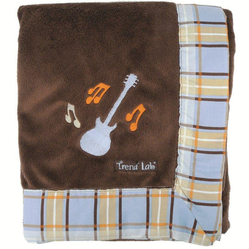 Rockstar Plush Blanket Baby Gage Our Little Rockstar