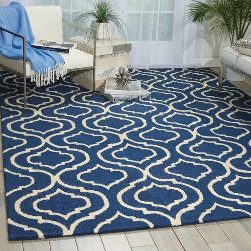 Aidyn Hand Hooked Wool Navy Blue Area Rug In 2018 Teresa S Home
