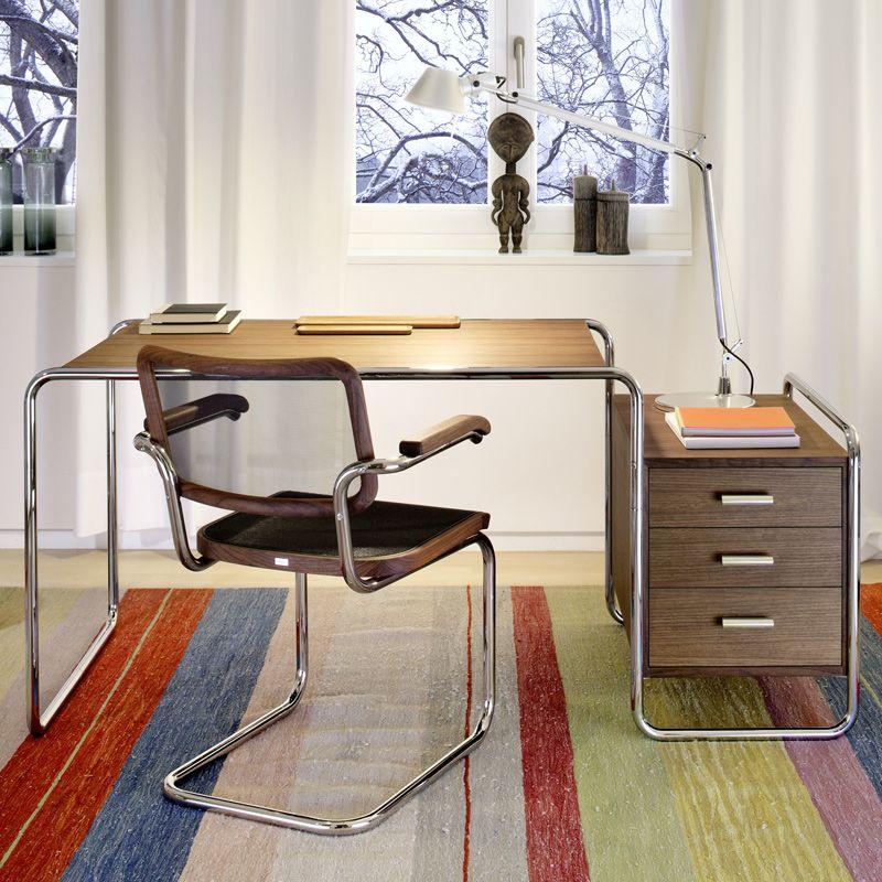 Silla S 64 + escritorio S 285 de Thonet bauhaus Pinterest - diseo de escritorios