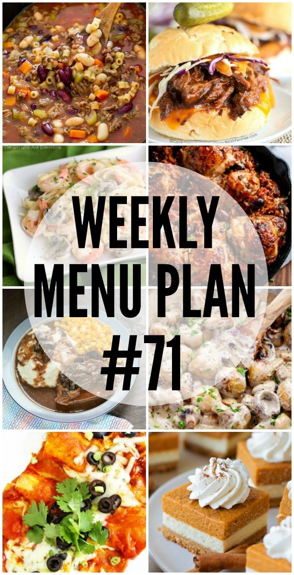 Getting dinner on the table is a snap with this week's MENU PLAN recipes! via @realhousemoms