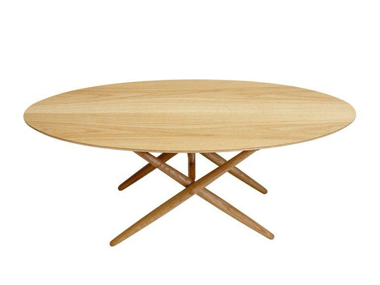 Tavolo Ovale ~ Tavolo ovale in legno ovalette by artek vintage style