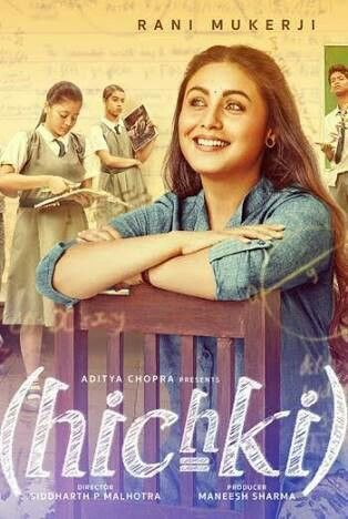 Poster of Hichki 2018 720p Hindi BluRay Full Movie Download HD