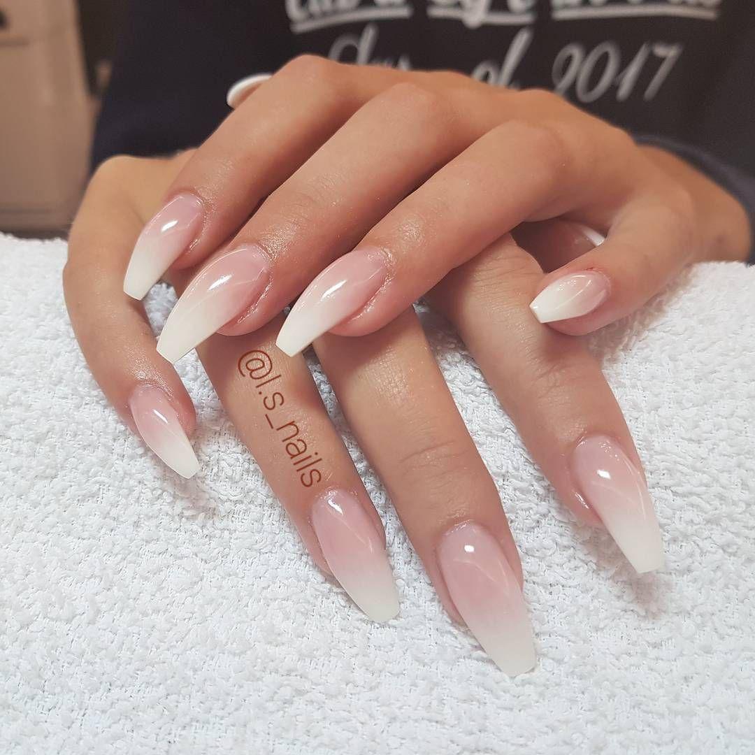 28 pretty mismatched nail art design - Glitter Ombre nail ...