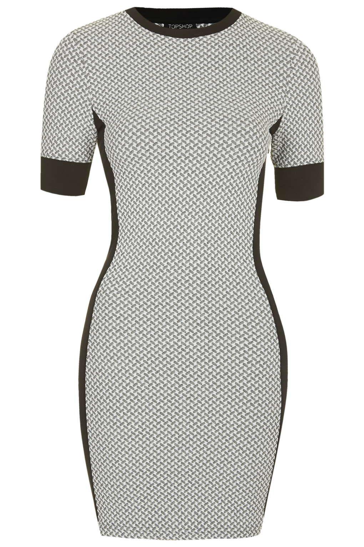 Geometrisches Bodycon-Kleid mit Bahnen Petite-Größe - Bodycon ...