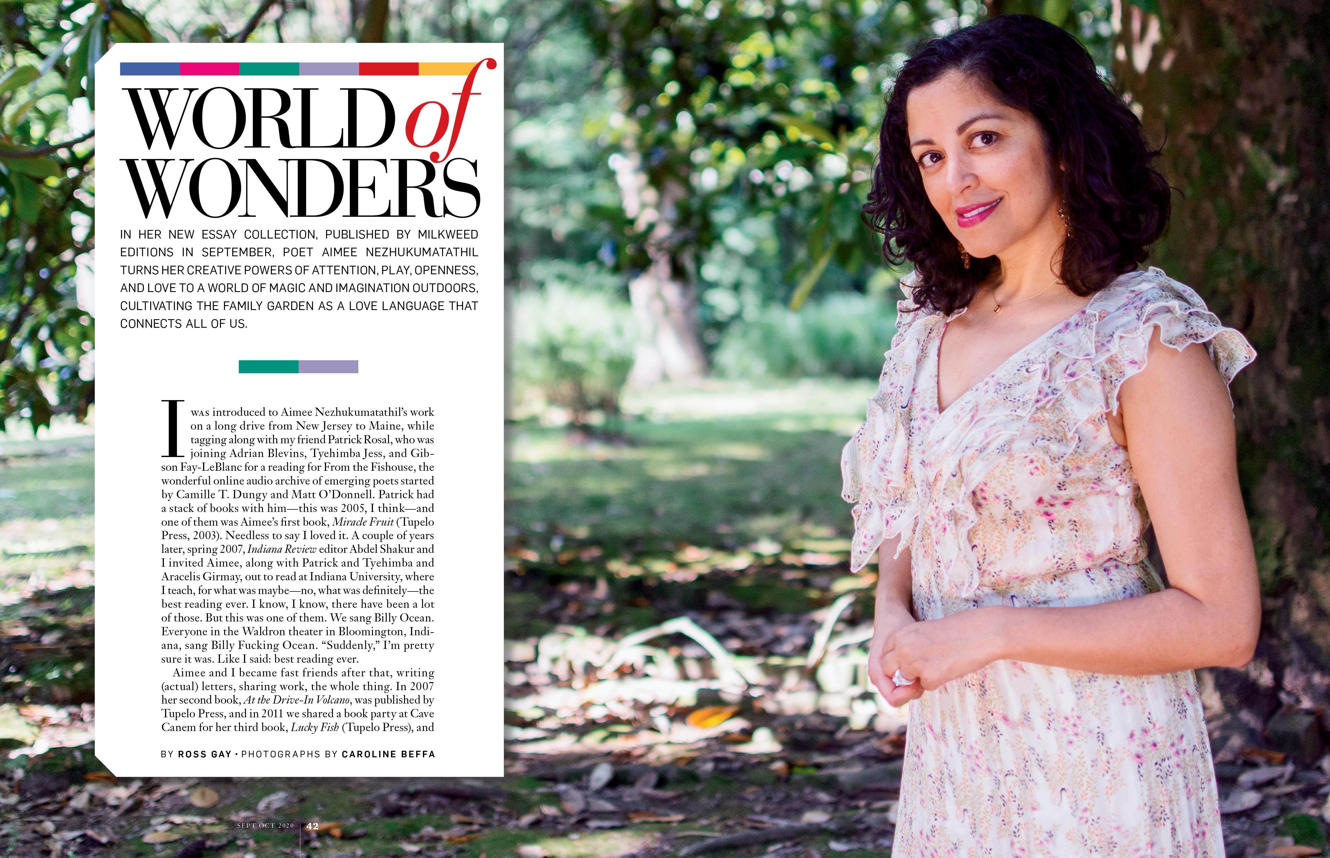World Of Wonders A Q A With Aimee Nezhukumatathil Wonder Aimee World