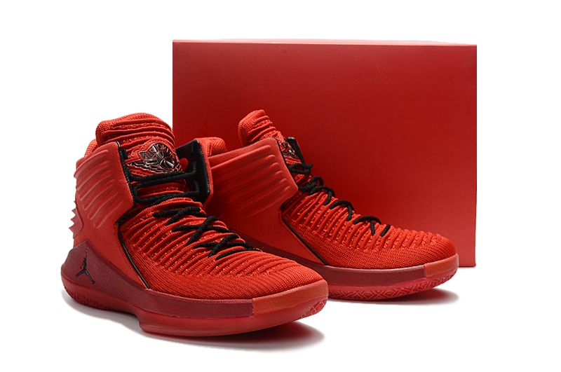 2017 New Release Air Jordan 32 XXXII Rosso Corsa Red Suede AA1253-601-1