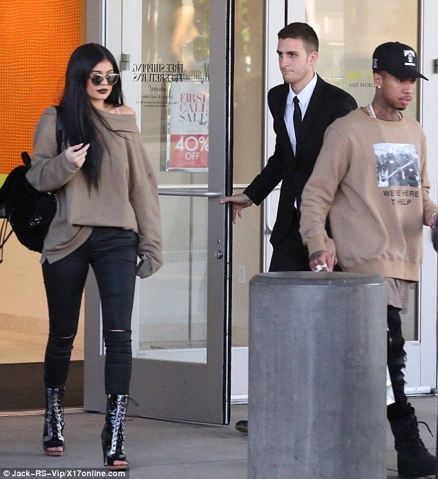 Kylie Jenner and Tyga take rapper's Rolls Royce to the mall for designer shopping spree | Daily Mail Online