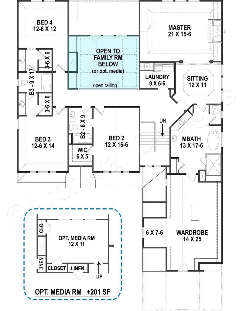 Wexford House Best Selling Floor House Plan Second Floor Wexford House House Plans 4000 Sq Ft House Plans