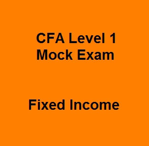 Trouble-free with Equity topic before CFA exams with 46 Basic Free CFA Level 1 Mock Exam Questions and Answers on Fixed Income. Working out these free effective CFA practice questions frequently means that saying goodbye to anxiety and stress in the midst of exam preparation. They're not be complicated any more and absolutely free in order that you can enhance your memory retention and be straightforward to the core knowledge.