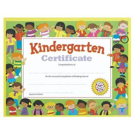 Kindergarten Certificate - Kids - Watch young grads smiles grow - certificate of achievement for kids