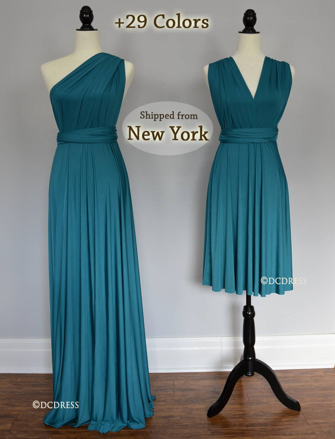 Teal green Wrap dress convertible bridesmaid dresses, infinity dress ...