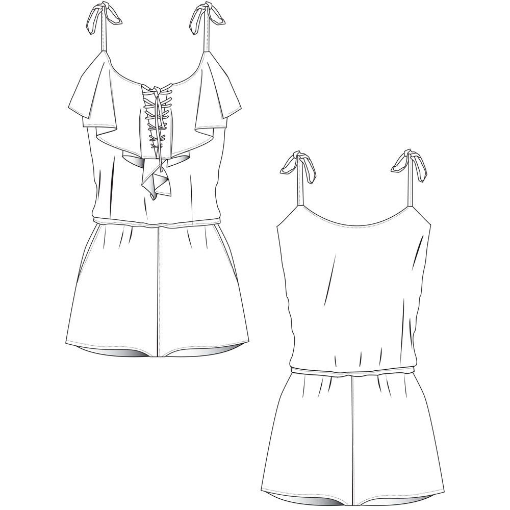 free fashion flat templates   trim pack