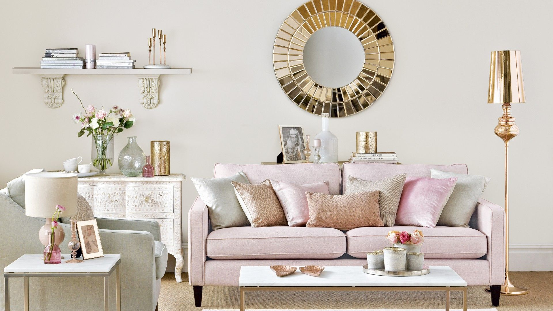 Design Trend How To Add Rose Gold To Your Home Pink Living Room Pink Living Room Decor Living Room Ideas Rose Gold