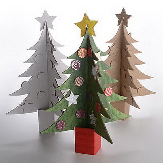 Christmas Handmade Paper Craft Decorations Cardboard Christmas Tree Handmade Paper Crafts Unusual Christmas Trees