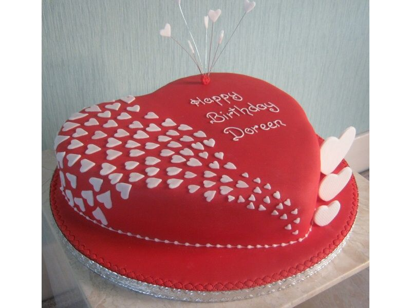 Cake Designs Hearts : Love Themed Valentines Day Cake Cake Picture Cakes ...