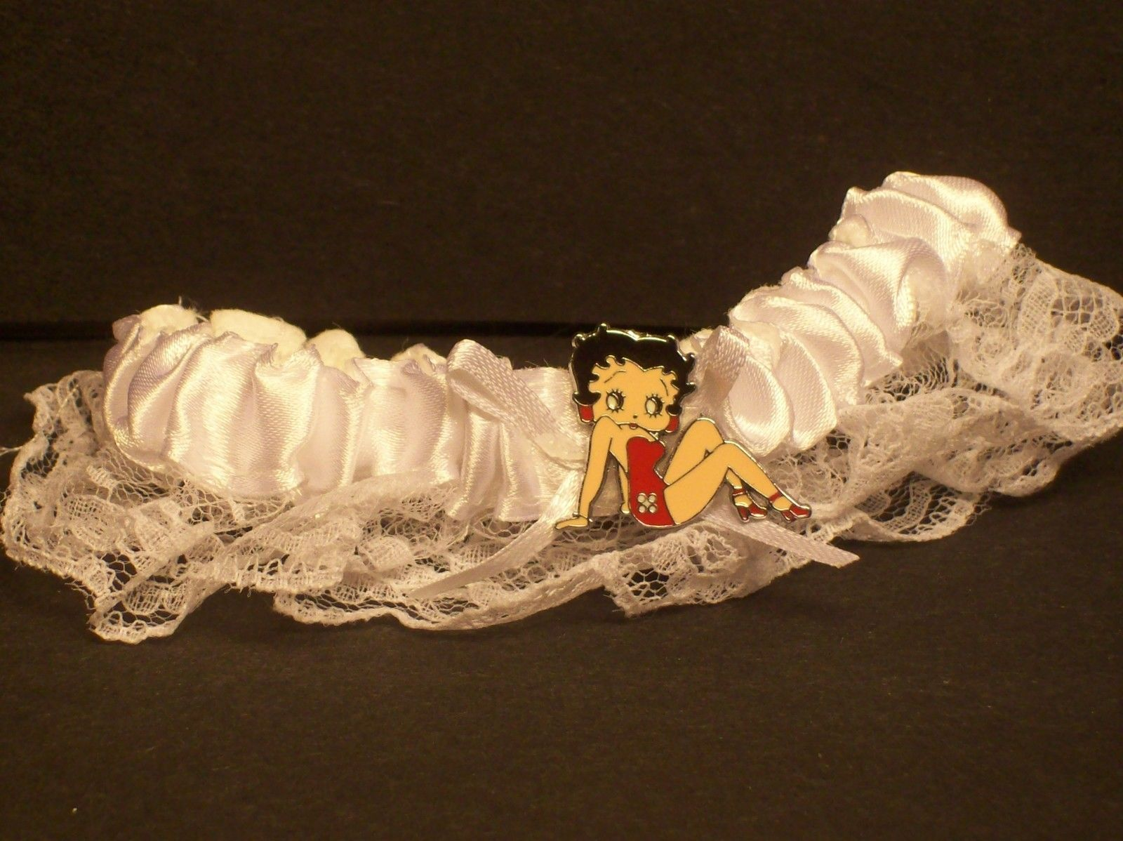 Betty boop red dress garter belt lace wedding bridal toss grooms betty boop red dress garter belt lace wedding bridal toss grooms arm funny geotapseo Image collections