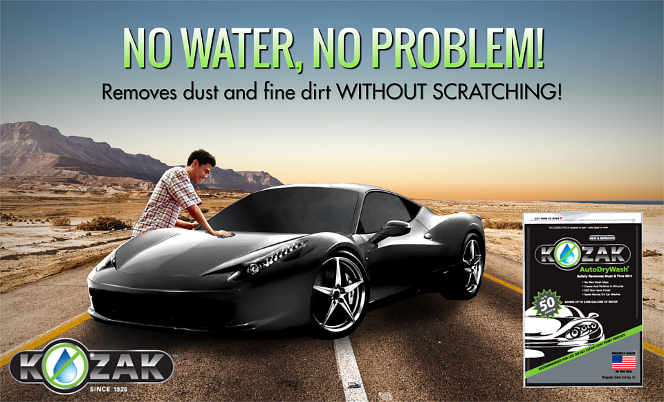 how to clean car without water