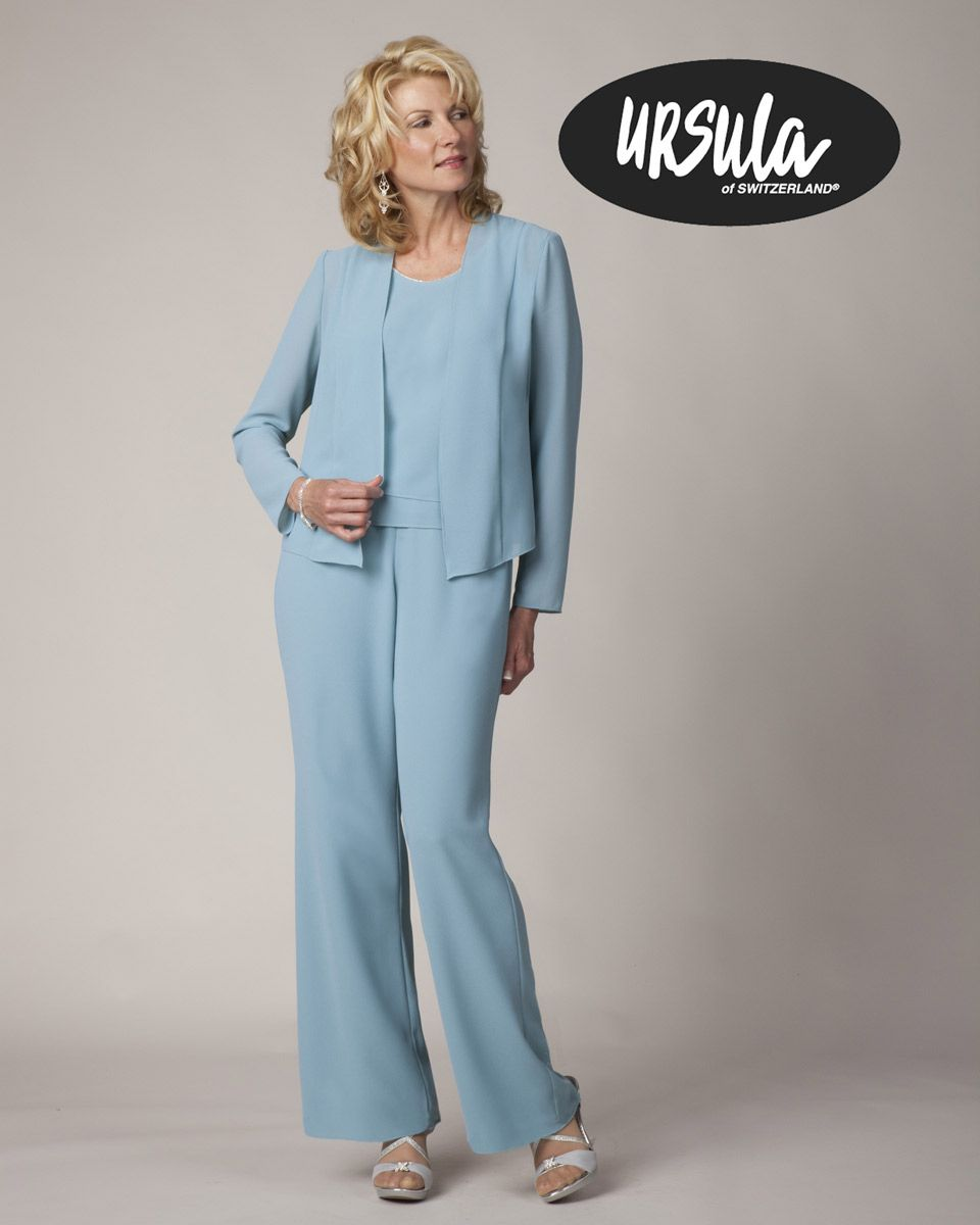 ca2eaa7ddc misty lane pant suit style 13569. elegant white chiffon mother of ...