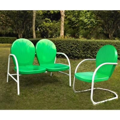 Crosley Griffith 2 Piece Metal Outdoor Conversation Seating Set