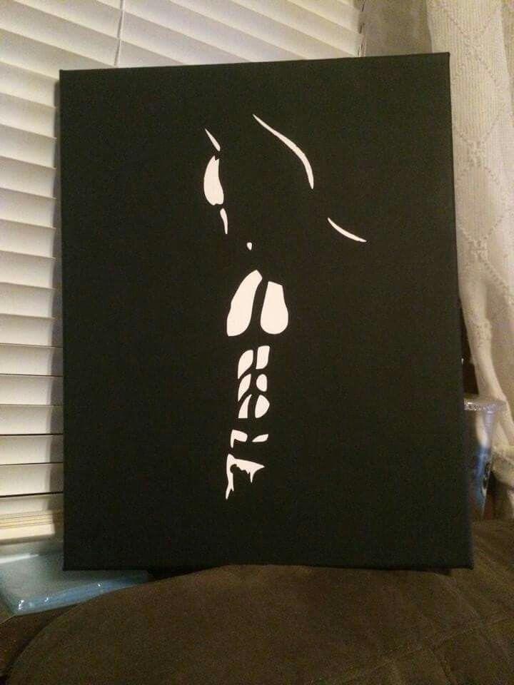 Simple Batman Canvas Black Canvas Paintings Simple