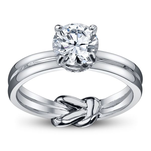 Hidden knot engagement ring infinity symbol infinite love