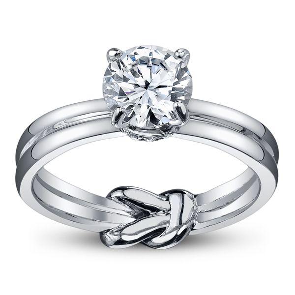 Hidden Knot Engagement Ring Infinity Symbol Infinite Love