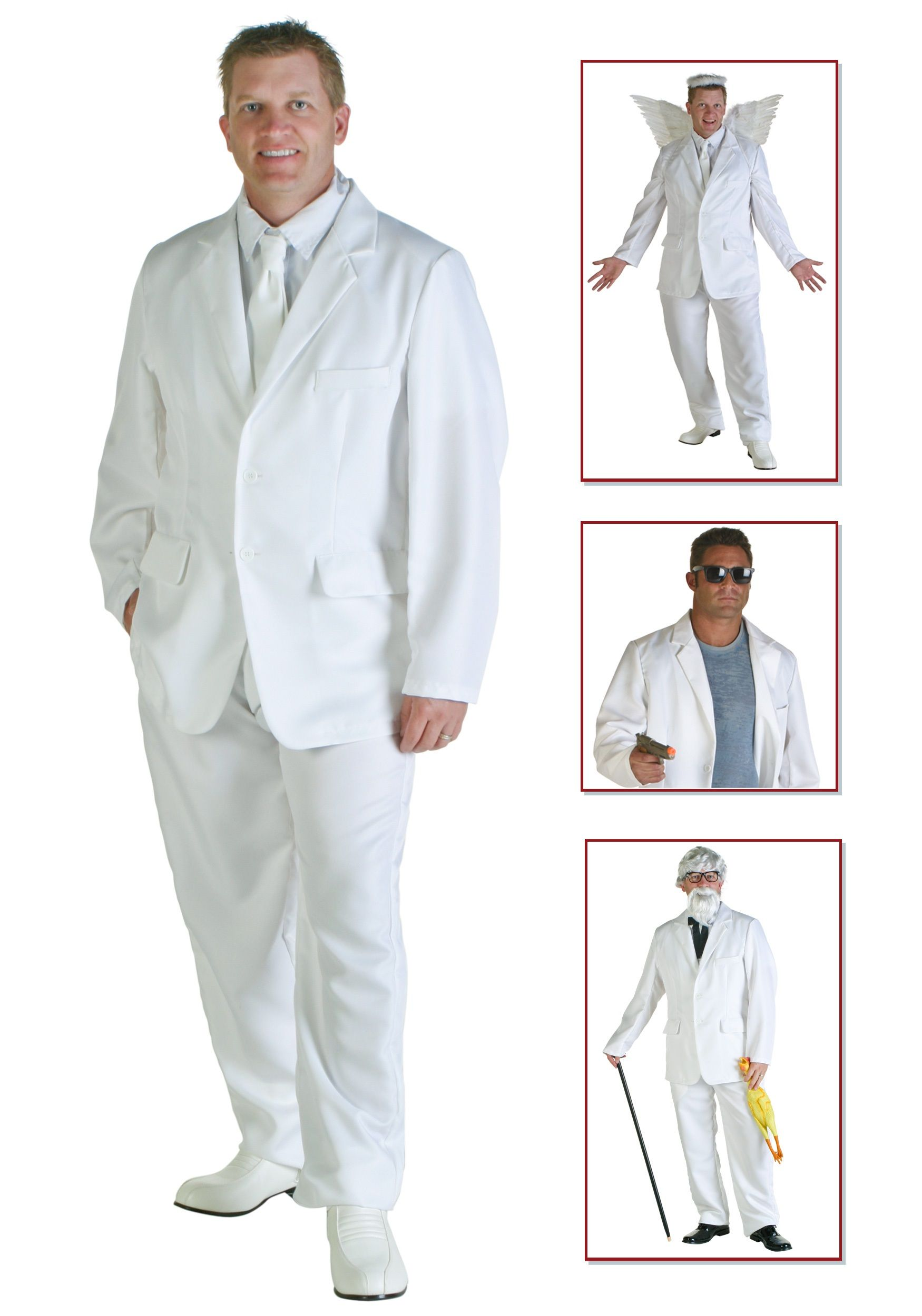 mens white suit costume | men halloween costumes | pinterest