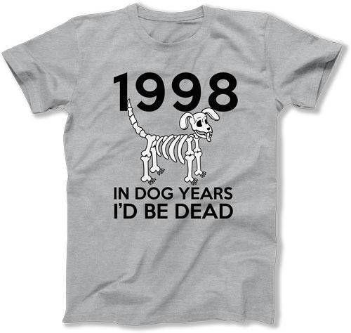 Funny Birthday Gift 20th Bday T Shirt Custom TShirt B Day Present For Him In Dog Years Id Be Dead 1