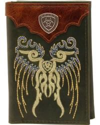 Ariat Trifold Embroidered Shield Wallet - Sheplers