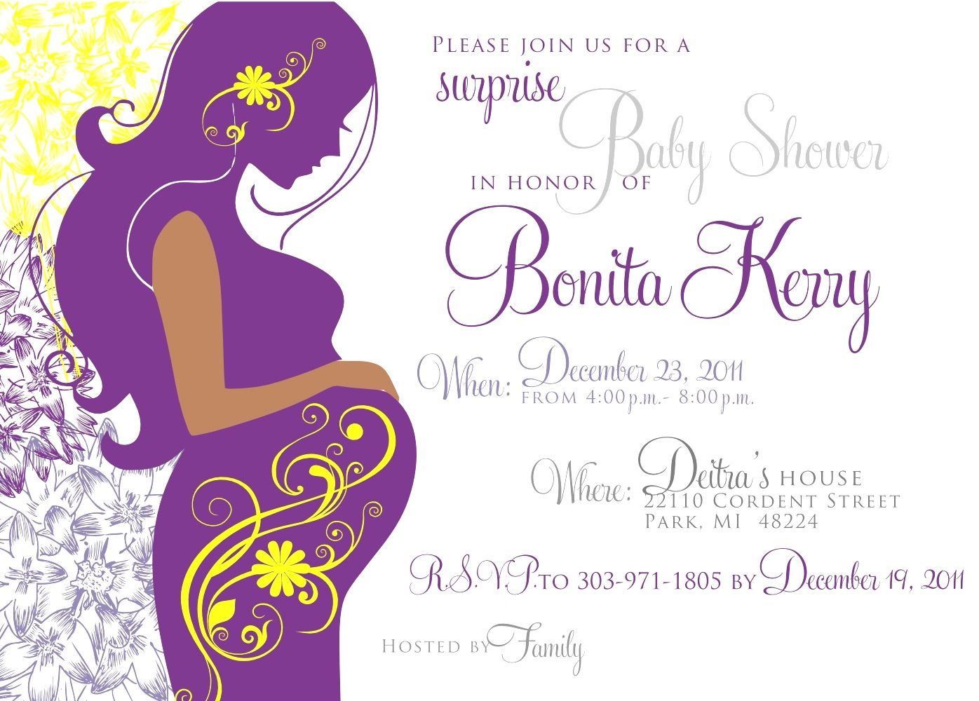 Baby Shower Invitations For Word Templates Alluring Free Baby Shower Invitation Templates For Word Www Awalkinhell .