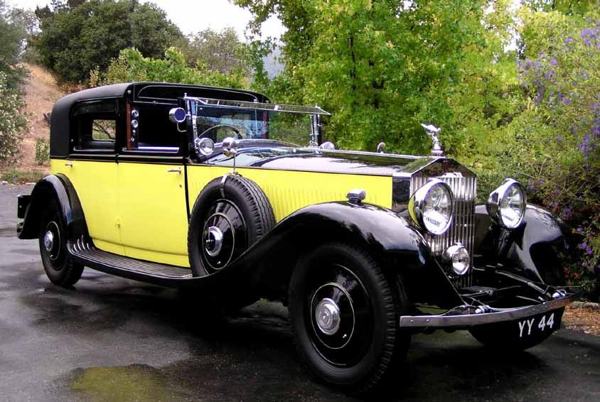 The Yellow Rolls Royce Fully Restored From The Movie Of The Same