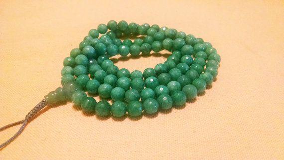 Light green Jade  108 Beads mala beads by KhasyorInternational
