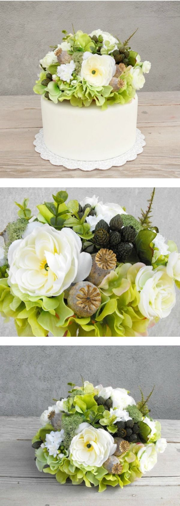 Rustic silk flower cake topper gorgeous wedding cake topper this rustic silk flower cake topper gorgeous wedding cake topper this would also make an junglespirit Image collections