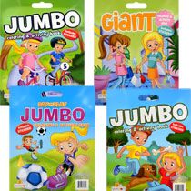 bulk super jumbo activity and coloring books with stickers at dollartreecom - Dollar Tree Coloring Books