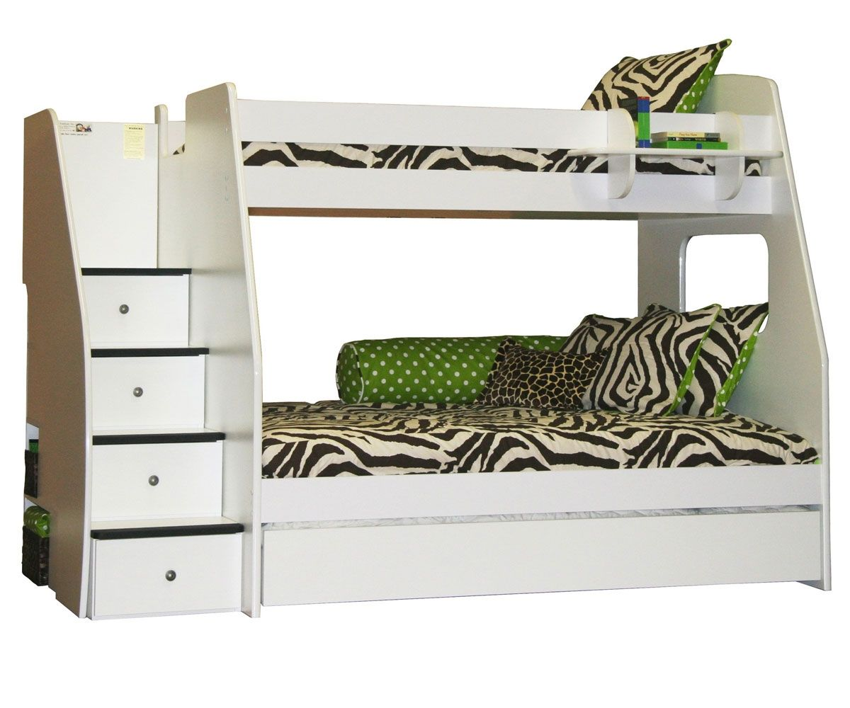 Best Enterprise Twin Over Full Size Bunk Bed With Staircase 400 x 300