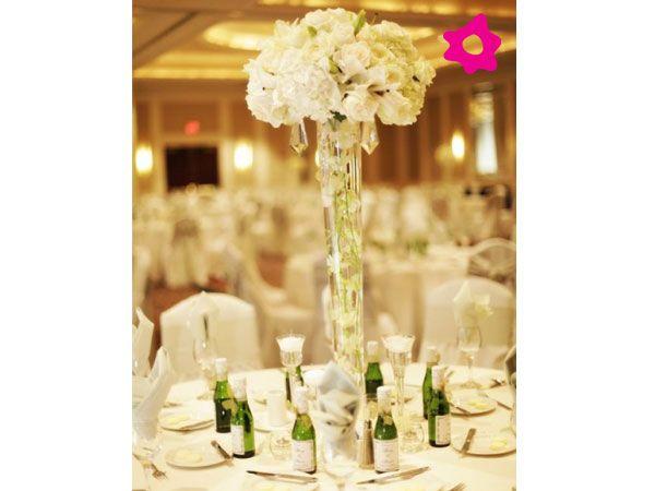 Centro de mesa para boda cilíndrico con velas centro mesa