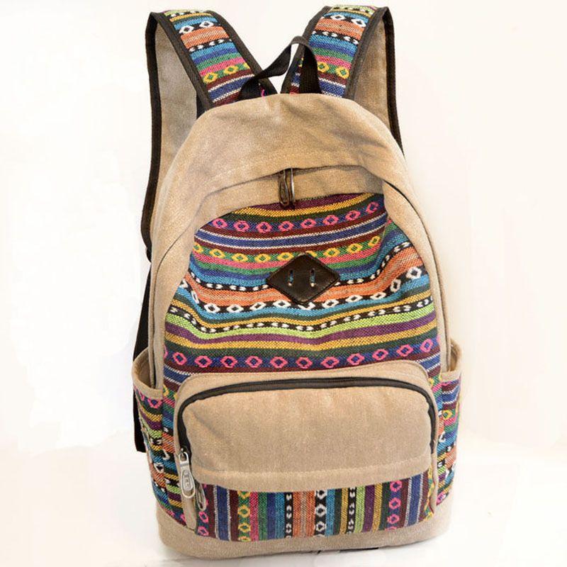 df45a8d213 Fashion School Backpacks 2016 Canvas Women Backpacks Patchwork School Bags  for Teenage Girls Schoolbag Bolsas Mochilas Femininas-in Backpacks from  Luggage ...