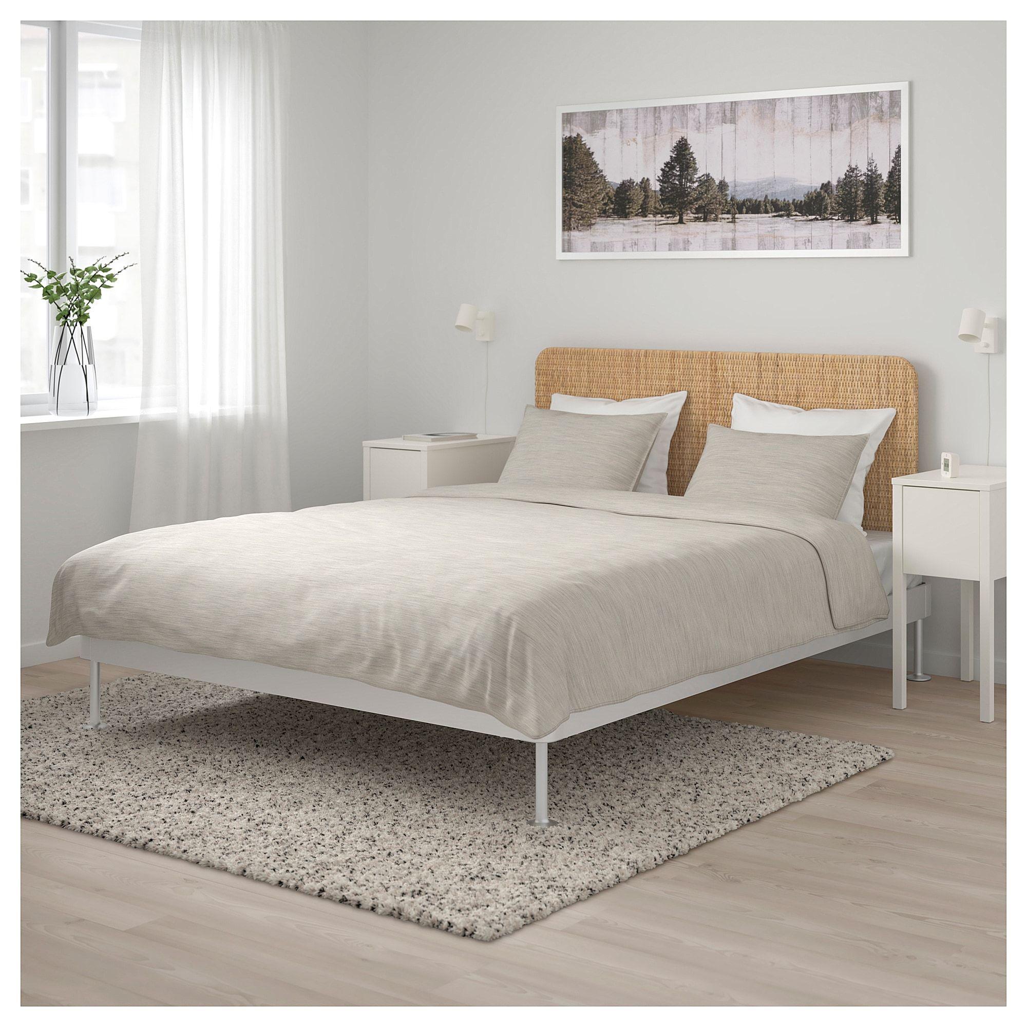 Delaktig Bed Frame With Headboard Aluminum Rattan Queen Bed