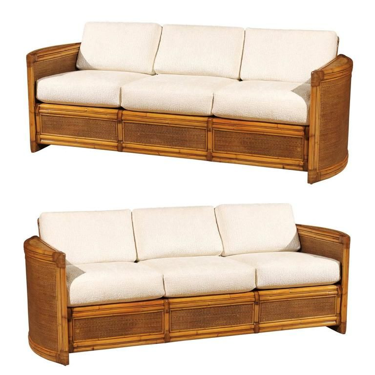 Exceptional Restored Vintage Rattan Sofa From A Unique Collection Of Antique And Modern Sofas At