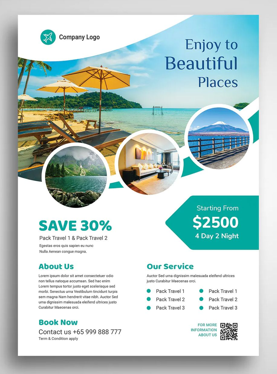 Travel And Vacation Flyer Template Psd Ai Travel Flyer Design Templates Vacation