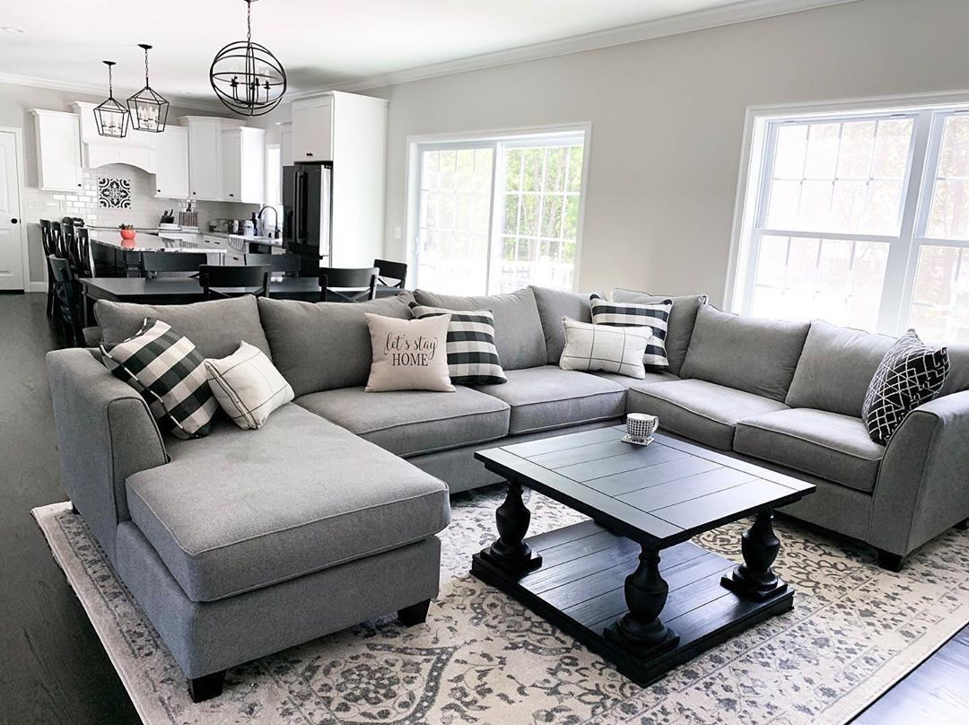 Raymour Flanigan Furniture On Instagram Staying In On This Sectional Couches Living Room Sectional Gray Sectional Living Room Microfiber Couch Living Room [ 808 x 1080 Pixel ]