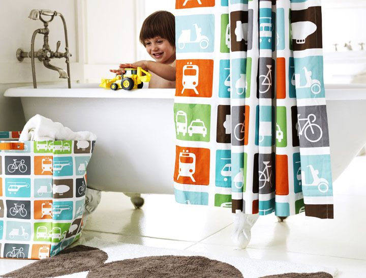 Make Tall Fabric Tote For Dirty Laundry To Match Shower Curtain