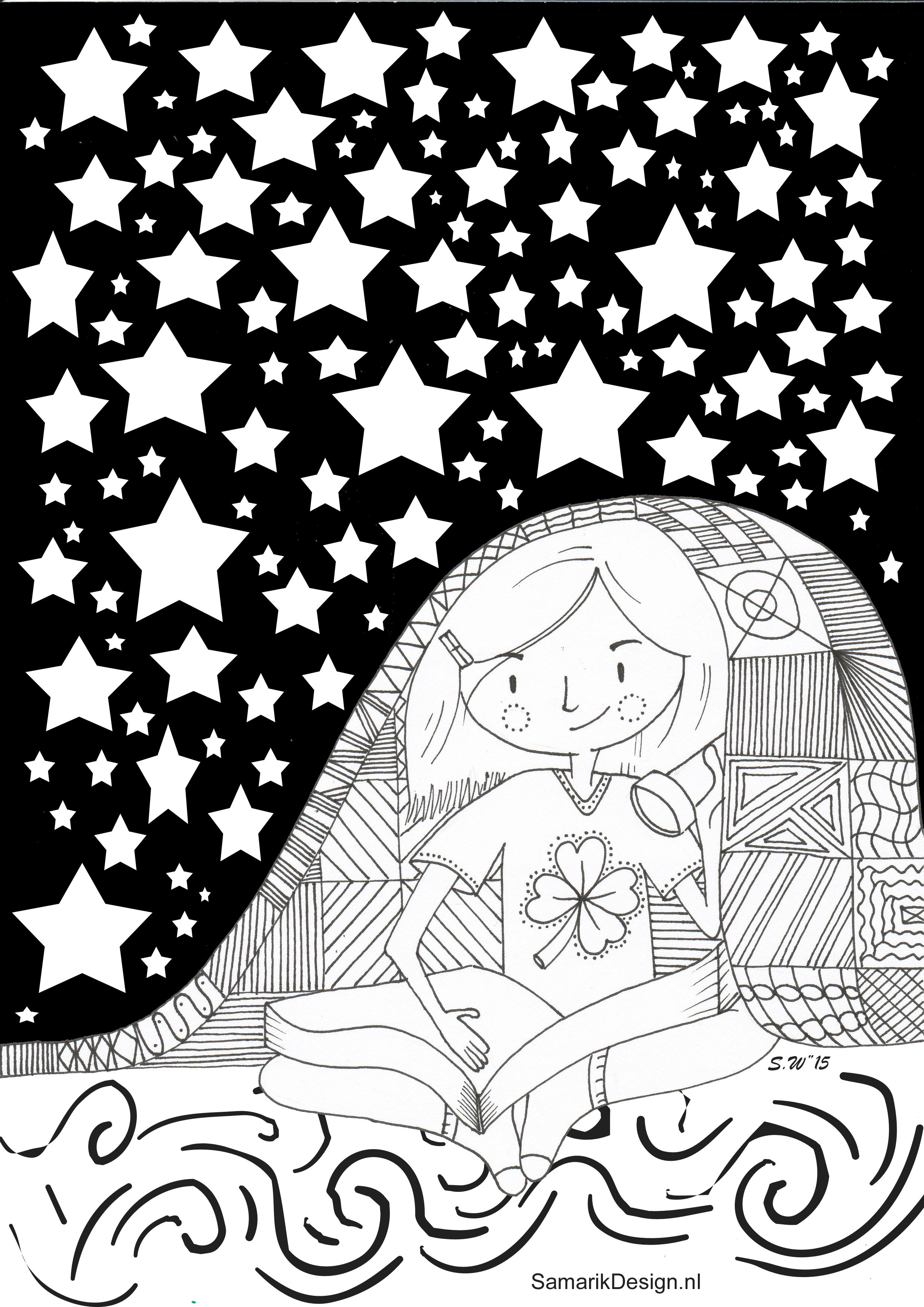 Kleurplaat Voor Volwassenen Bedtime Kleurplaten Voor Volwassenen