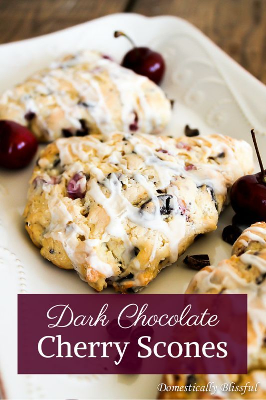 Dark Chocolate Cherry Scones is part of Cherry scones - These Dark Chocolate Cherry Scones were a fluke  When I went to the store last Friday to pick up a few extra things for the weekend I noticed that Publix was having a great deal on