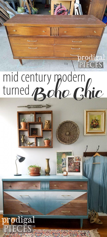 Best Boho Mid Century Modern Dresser Furniture Makeover 640 x 480