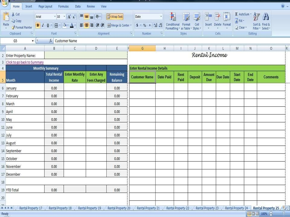 Rental ledger template printable check register sample 9 Otherly